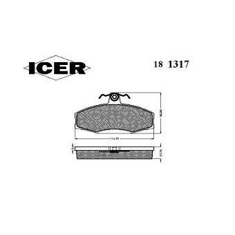 Brzdové destičky, sada E ICER